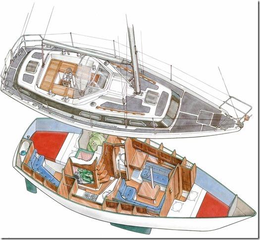 Segelyacht innen  Compromis 999 | S.Y. Brynja´s Blog